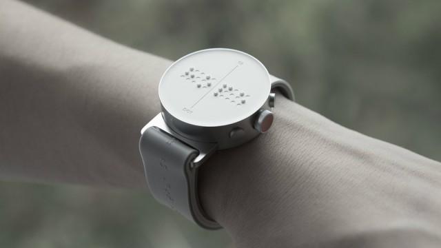 dot smartwatch braille release - Dot - أول ساعة ذكية بنظام برايل للمكفوفين في طريقها للمشترين !