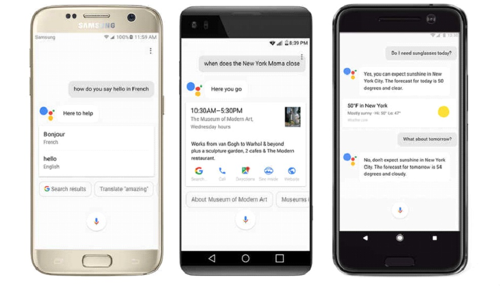 1 9 - مساعد جوجل قادم قريبًا لكافة الهواتف الذكية لمنافسة سيري وأليكسا