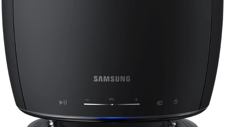1503506802 samsung smart tv wireless bluetooth speaker - سامسونج تؤكد رغبتها فى دخول سوق مكبرات الصوت الذكية قريبا ومنافسة الشركات الأخرى