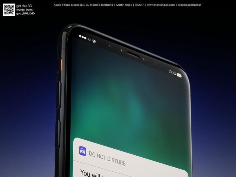 iphone 8 martin hajek 5 - شائعات حول إشعارات هاتف ايفون 8 الجديد كلياً سوف تغلق بمجرد النظر للشاشه
