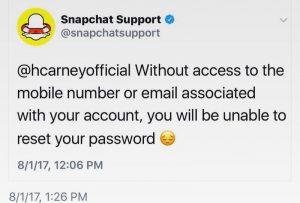 snapsupport 300x203 - حساب الدعم الفني لشركة سناب شات يضع شروط لإسترجاع حسابك