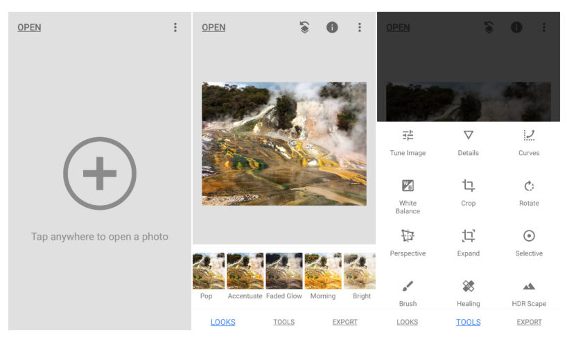 Snapseed adds new photo filters 1 - تطبيق Snapseed للتعديل على الصور يضيف تحديثات جديدة