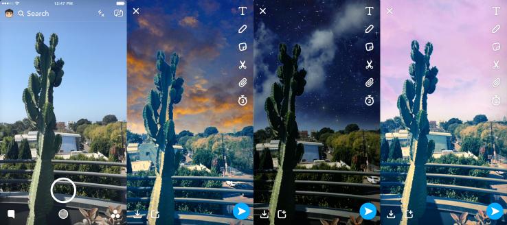 sky filter - فلاتر سناب شات الجديدة لتغيير حالة الطقس في الصور وشكل السماء