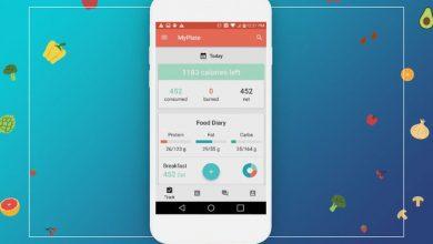 تطبيق MyPlate Calorie Tracker
