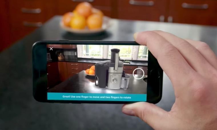 1 18 - تطبيق أمازون أصبح يدعم معاينة المنتجات بعد دعم قوقل الواقع المعزز على 13 جهاز أندرويد
