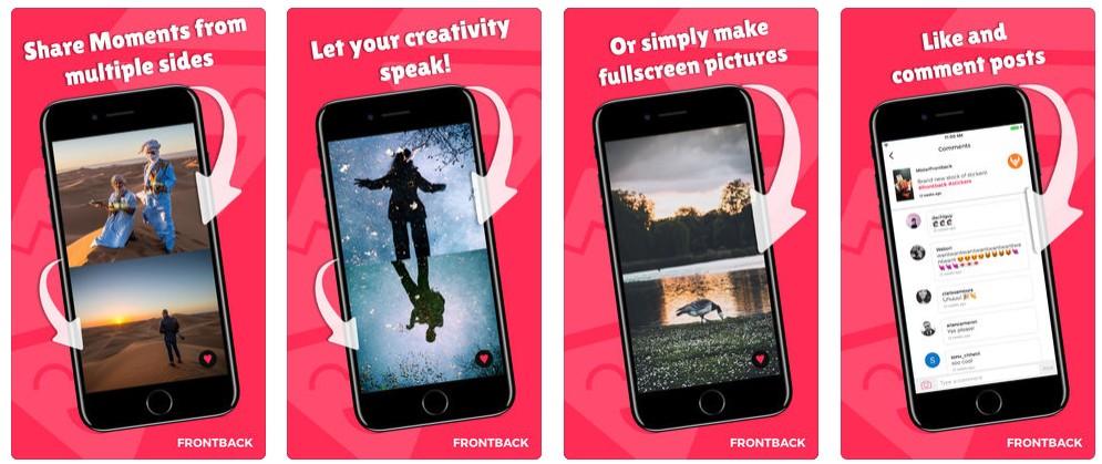2 1 2 - تطبيقات أندرويد وآيفون للتصوير بالكاميرا الأمامية والخلفية معا حتى لو كان جوالك لا يدعم الميزة