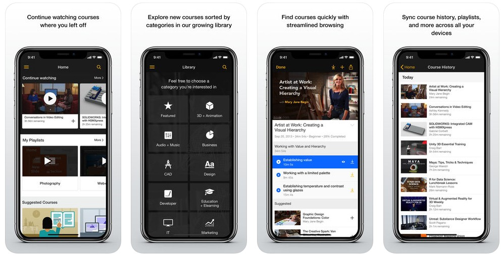 2018 02 28 12 14 33 Lynda.com on the App Store - أفضل 5 تطبيقات تعليمية لمستخدمي آيفون وآيباد وأندرويد