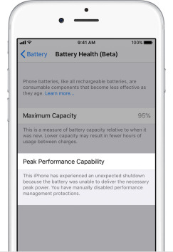 iphone ios 11 3 healthy battery maximum capacity speed throttle 5 - كيف تعطل خاصية إبطاء آيفون في نظام iOS 11.3؟