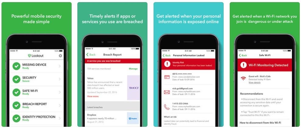 2018 03 05 16 04 46 Lookout on the App Store - أفضل 5 تطبيقات مجانية لمكافحة الفيروسات وحماية البيانات الشخصية لآيفون وآيباد