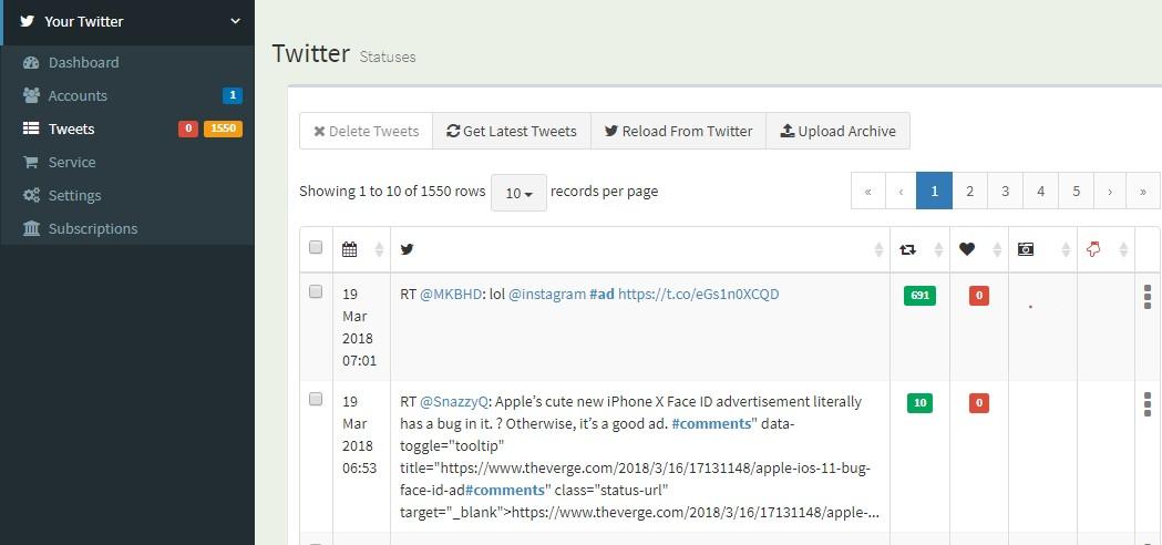 2018 03 19 09 43 02 TweetERASER - هذه المواقع تقدم لك خيار حذف جميع تغريدات تويتر أو مجموعة منها على دفعة واحدة