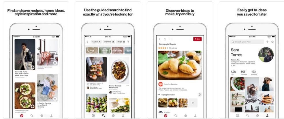 2018 03 19 10 10 29 Pinterest on the App Store - أفضل تطبيقات البحث عن طريق استخدام الكاميرا
