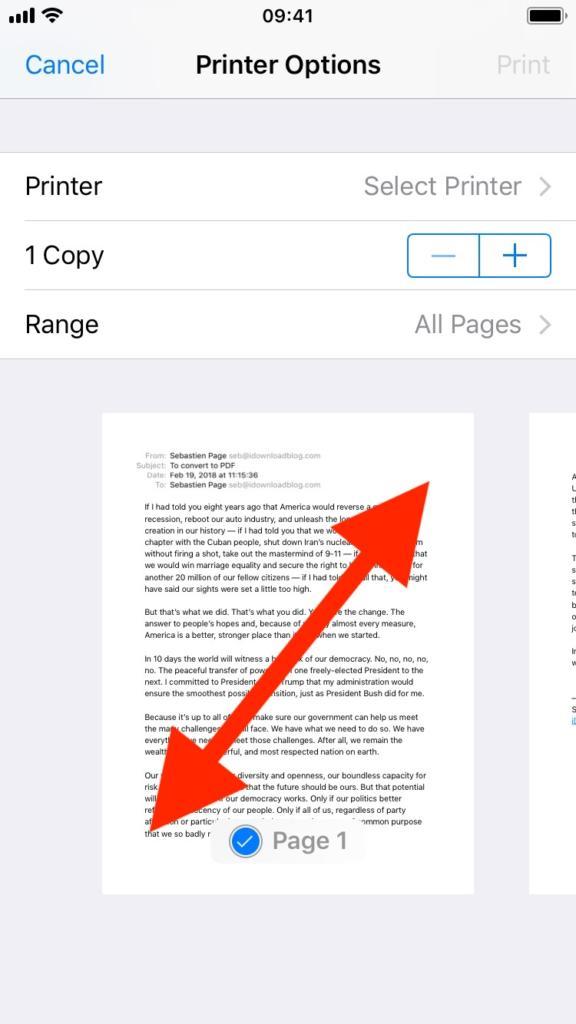 21 - تعرف على طريقة حفظ رسائل البريد الإلكتروني كملف PDF في آيفون وآيباد