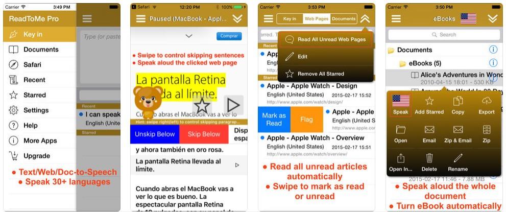 3 7 - تطبيق Read to me يقوم بقراءة النصوص بمختلف اللغات والتي منها العربية