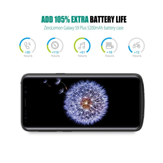 Galaxy S9 Plus 5200mAh Battery Case 2 1600x - حافظة تضاعف من عمر بطارية جالكسي S9 وS9 بلس