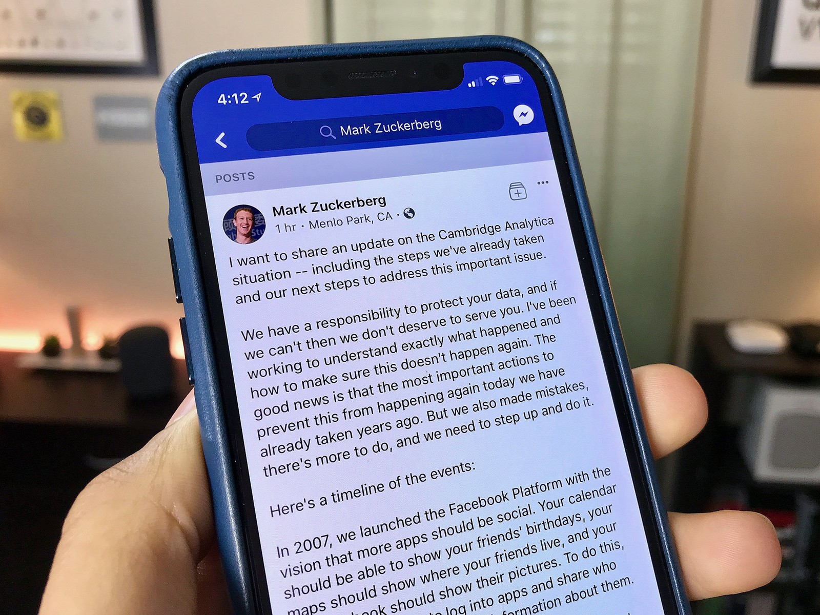 facebook mark zuckerberg responds hero - مارك زوكيبرج يرد على تورط فيس بوك في تسريب بيانات 50 مليون مستخدم