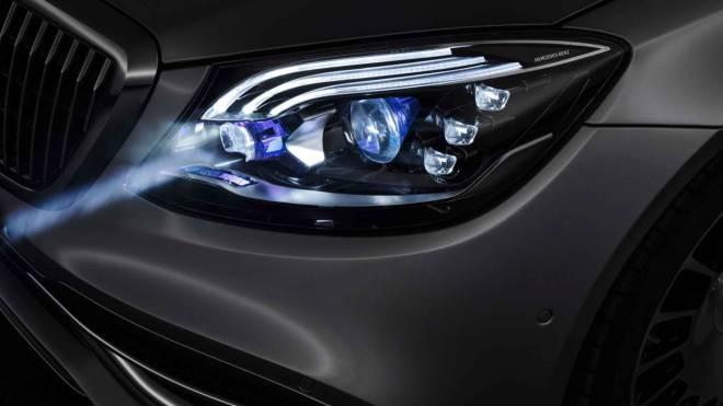 mercedes maybach digital light 5 - الأن مصابيح مرسيدس بإمكانها تجسيد الأشكال على الطريق