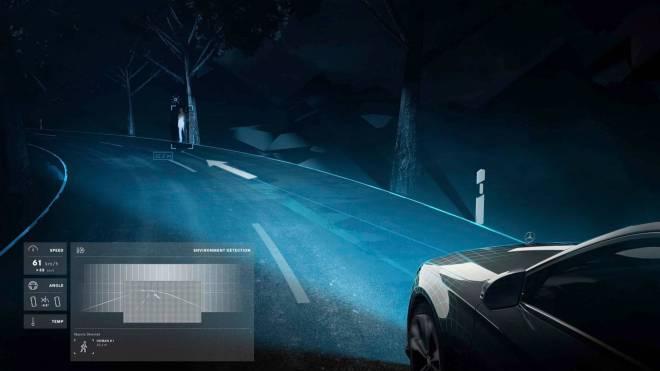 mercedes maybach digital light 7 - الأن مصابيح مرسيدس بإمكانها تجسيد الأشكال على الطريق