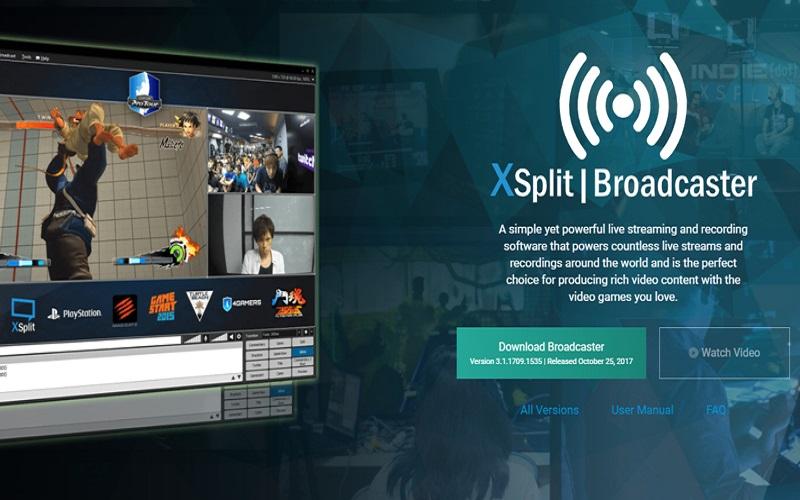 XSplitBroadcaster - باقة من أهم وأفضل البرامج المجانية لتسجيل شاشة الحاسوب