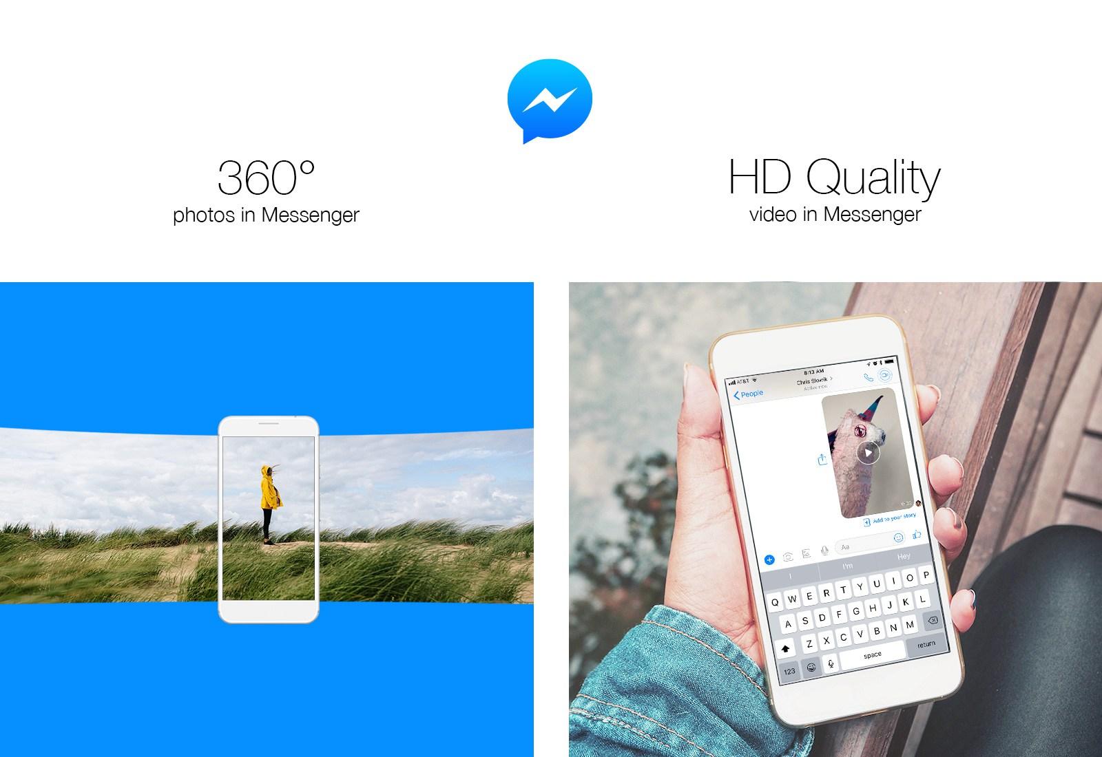 hd 360 facebook messenger - فيسبوك ماسنجر أصبح الآن يدعم خاصية إرسال صور 360 درجة وفيديوهات HD
