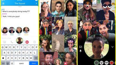 snapchat group video calls 390x220 - سناب شات تضيف ميزة مكالمات الفيديو الجماعية لتطبيقها