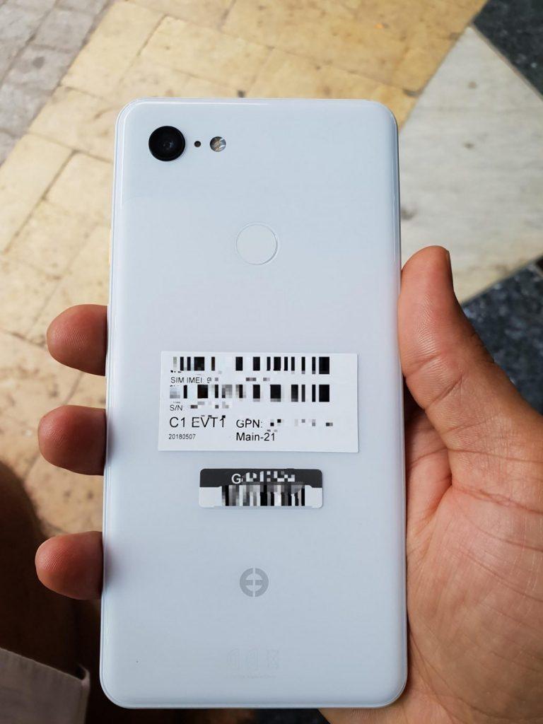 White Google Pixel 3 XL live images 768x1024 - تسريب أول صور حقيقية لجوال Pixel 3 XL تكشف تصميمه