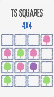 2 2 - لعبة TS Squares الأفضل في تحديات الذاكرة، متاحة حصرًا على نظام تشغيل iOS