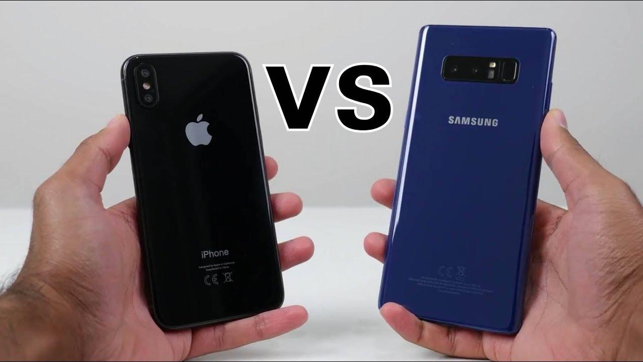 maxresdefault - بالفيديو: مقارنة بين جوالي جالاكسي نوت 9 وآيفون X في سرعة الأداء، تتوقع من الفائز؟
