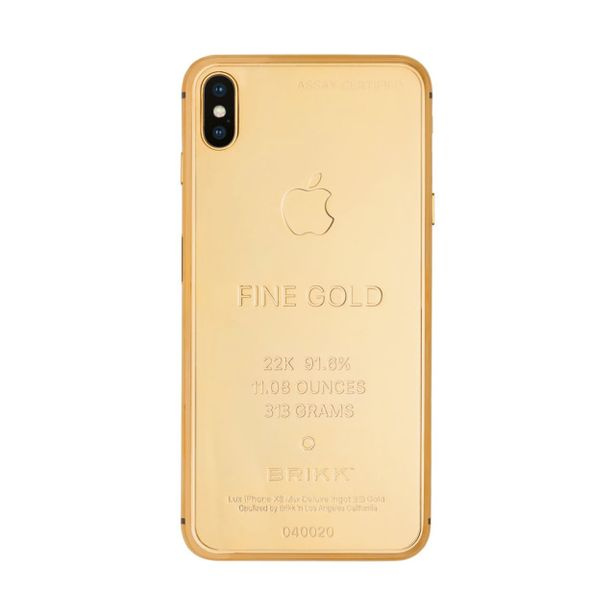 18757 0 s778481183918088934 p295 i6 w640jpeg - شركة Brikk تصنع نسخة من الذهب الخالص من جوال آيفون Xs Max ، والسعر خيالي