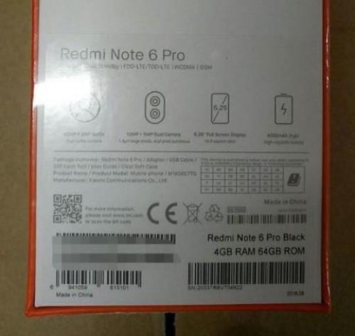 Redmi Note 6 Pro leak - صور مسربة تكشف مواصفات هاتف شاومي الذكي Redmi Note 6 مع أربع كاميرات