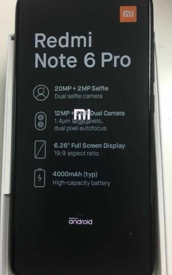 Redmi Note 6 Pro - صور مسربة تكشف مواصفات هاتف شاومي الذكي Redmi Note 6 مع أربع كاميرات