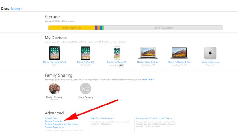 Screenshot 19 3 - هكذا تستطيع بسهولة استعادة جهات الاتصال المحذوفة على أجهزة آيفون وآيباد