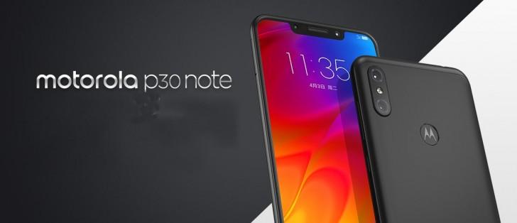 gsmarena 001 352 - موتورولا تكشف رسمياً عن الجوال Motorola P30 Note مع شاشة 6.2 إنش وبطارية ضخمة