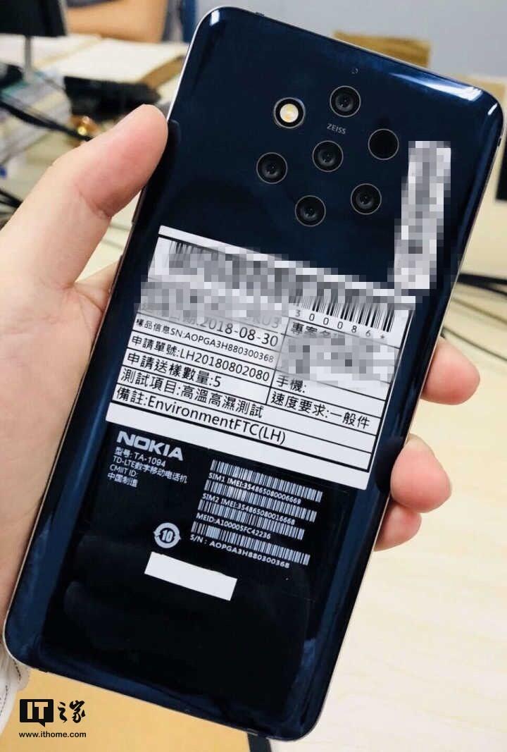 nokia five camera phone - تسريب صورة واقعية لجوال نوكيا تكشف وجود خمس كاميرات بالخلف