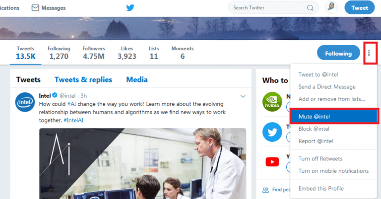 twitter mute 768x403 - خطوات تجاهل حسابات وتغريدات المتابعين المزعجين على تويتر دون إخطارهم