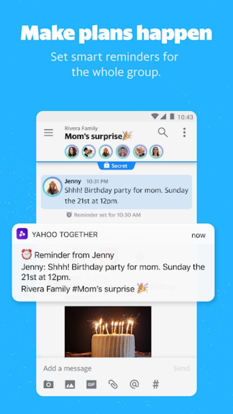 3.webp  2 - تطبيق Yahoo Together الجديد من ياهو للمراسلة الفورية، ينافس الواتساب
