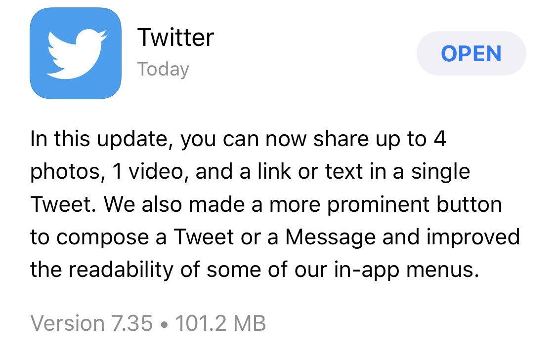 DqwIsLmXQAARXIS - تويتر يحصل على تحديث جديد يسمح لك بإضافة فيديو وصور لتغريدتك