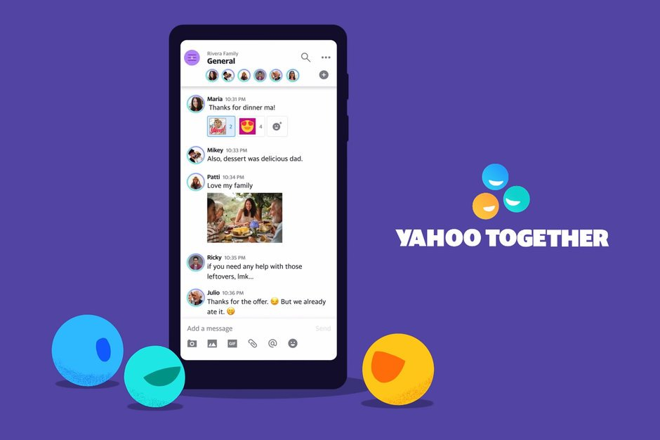 Yahoo debuts new instant messaging app Yahoo Together - تطبيق Yahoo Together الجديد من ياهو للمراسلة الفورية، ينافس الواتساب