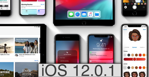 iOS 12 1 - آبل تطلق تحديث iOS 12.0.1 لحل مشاكل الشحن والاتصال في الهاتفين Xs و XS Max