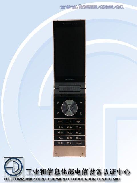 samsung sm w2019 flip phone 1 - مع اقتراب الإعلان الرسمي، ظهور صور ومواصفات جوال سامسونج W2019 بسعر 9,200 ريال
