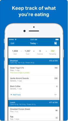 1 1 - تطبيق MyFitnessPal يفيدك في حساب السعرات الحراريه لتخفيف وزنك