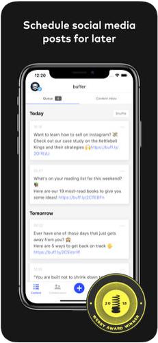 1 - تطبيق Buffer لجدولة تغريداتك ومنشوراتك على مواقع التواصل الاجتماعي