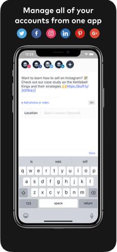 2 - تطبيق Buffer لجدولة تغريداتك ومنشوراتك على مواقع التواصل الاجتماعي