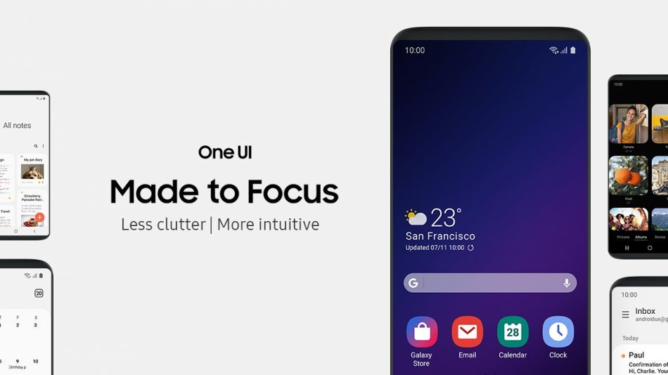 Samsung new One UI - سامسونج تزيح الستار عن الواجهة الجديدة One UI لهواتفها