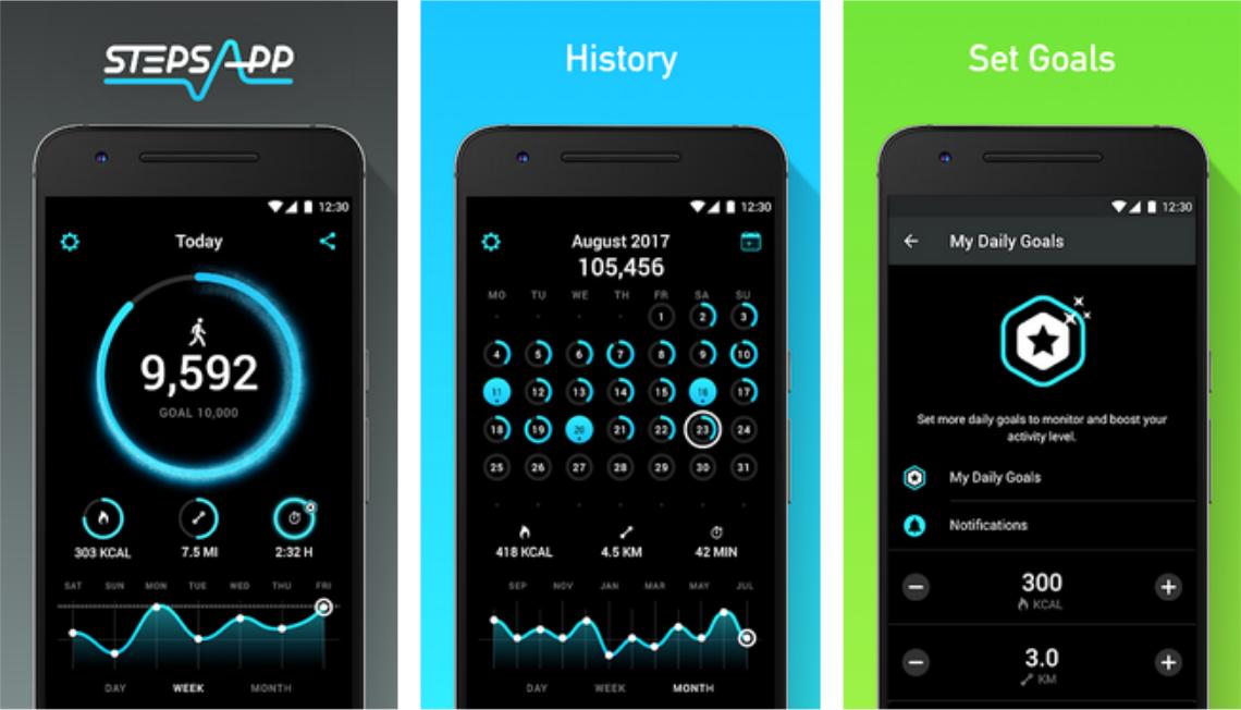 Screenshot 11 - التطبيق الرياضي المميز StepsApp لحساب السعرات الحرارية أثناء المشي لهواتف الأندرويد وآيفون