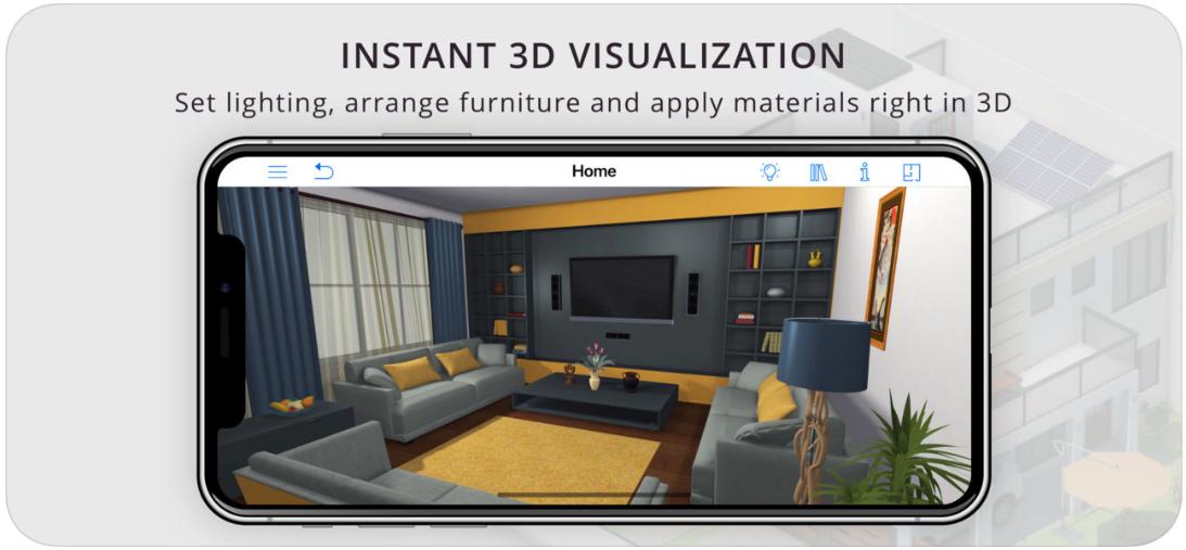 Screenshot 4 - للتحميل التطبيق المذهل Live Home 3D للتصميمات والديكورات لهواتف الآيفون