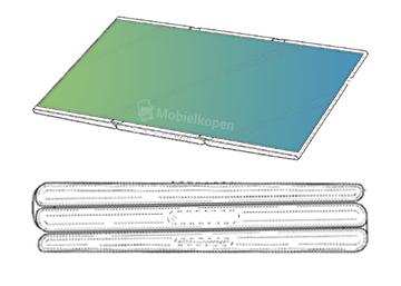 dual folds - تسريب صور براءة اختراع جديدة مقدمة من شركة سامسونج لتابلت قابل للطي