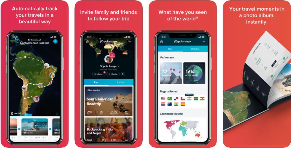 1 2 - تطبيق Polarsteps لتتبع رحلاتك ومشاركة مسارك والمناطق التي تذهب اليها مع الاخرين