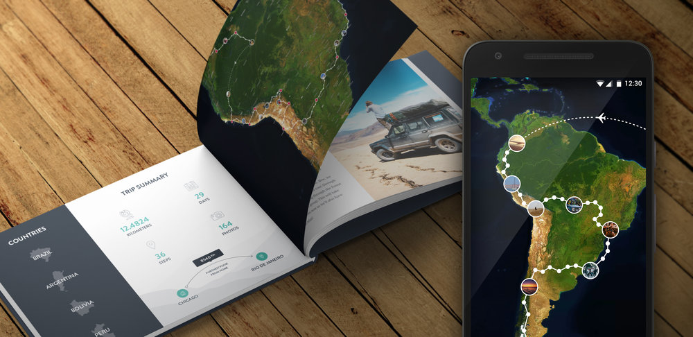 235493 Polarsteps Hero Travel Book Press fb8fd5 large 1485944027 - تطبيق Polarsteps لتتبع رحلاتك ومشاركة مسارك والمناطق التي تذهب اليها مع الاخرين