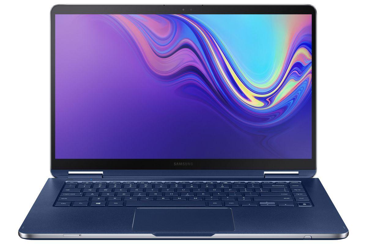 PR NT950SBE 001 Front Open Blue - سامسونج تكشف رسمياً عن نوت بوك 9 الجديد كلياً بمزايا فريدة وقلم خاص