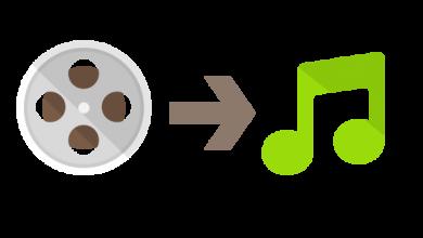 extract audio from video 390x220 - تطبيق Audio extractor - mp3Converter لسحب الأصوات mp3 من الفيديوهات ومزايا أخرى